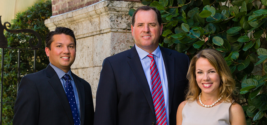 Nicoletti Wealth Management Team Photo.  Left to right:  Ron Bekins, Senior Registered Client Associate, Peter A. Nicoletti, Managing Director/Investments, Amanda L. Campbell Associate VP/Investments